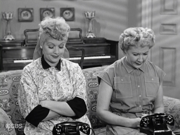 I Love Lucy S02 E08 Lucy and Ethel wait by phone