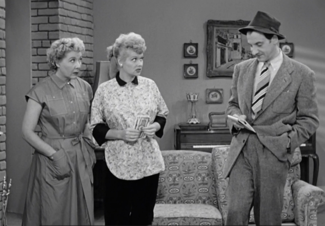 I Love Lucy S02 E08 Lucy and Ethel with furniture guy