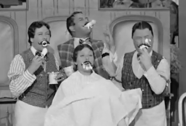 I Love Lucy S02 E12 Barbershop quartet eats shaving cream