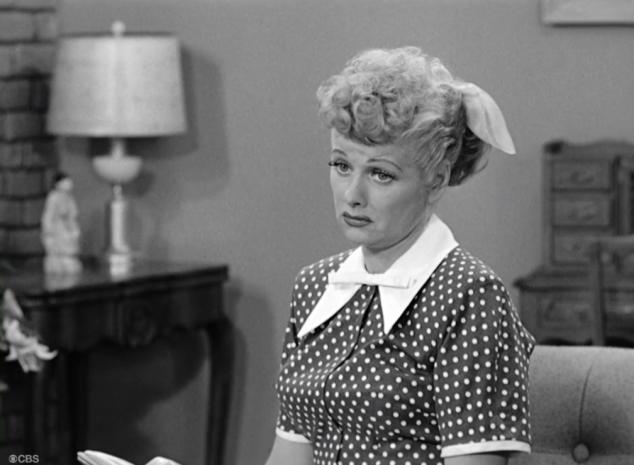 I Love Lucy S02 E17 Lucy dead eye stare
